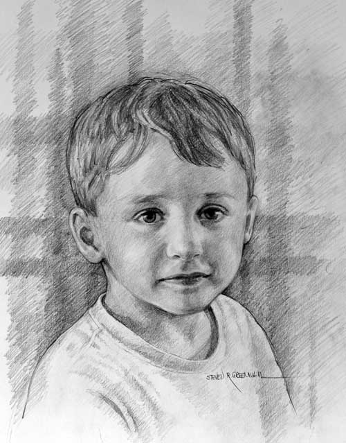 Original art graphite drawing titled Luke