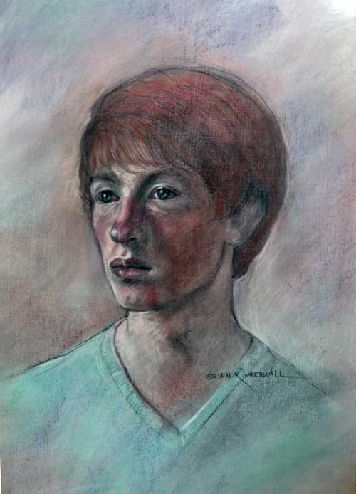 Original art pastel titled Matt