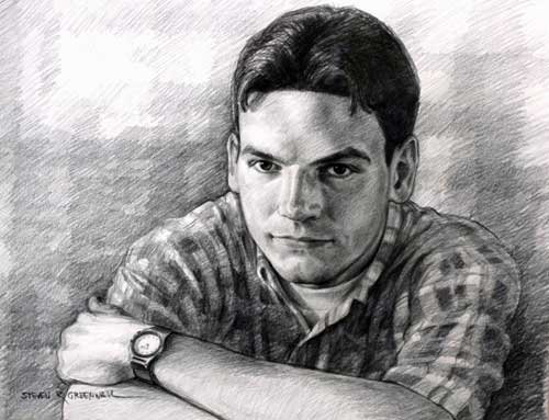 Original art graphite drawing titled Nate