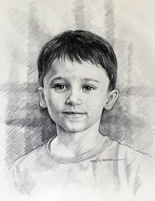 Original art graphite drawing titled Spencer